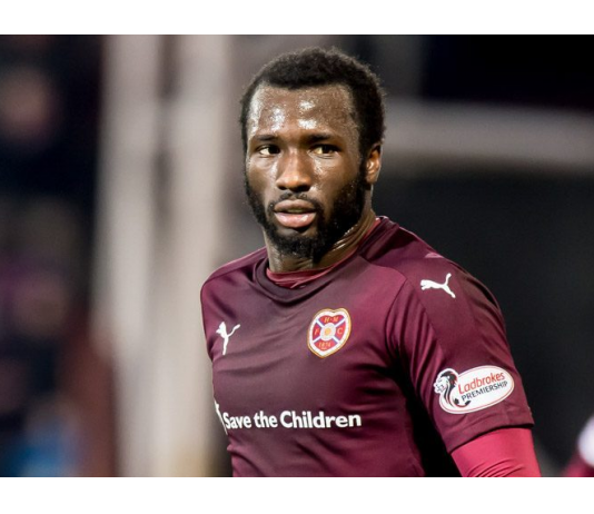 Hearts player Esmael Goncalves in action for the Edinburgh club
