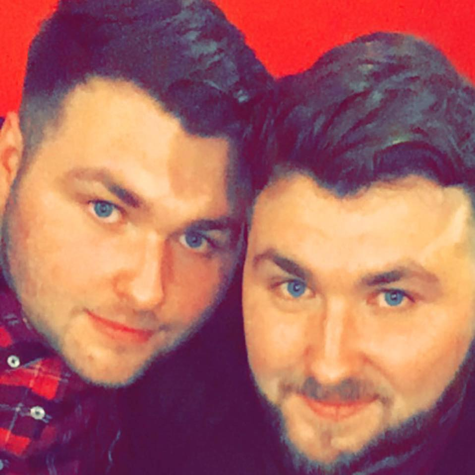Dean (L) with brother David (R)- Viral Video News Scotland