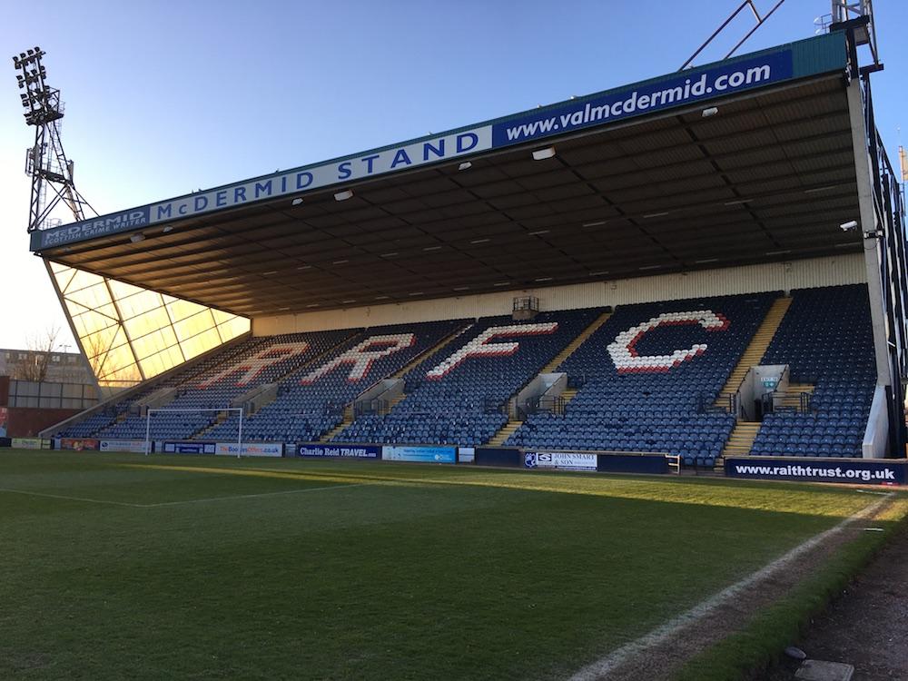 The Val McDermid Stand at Stark's Park | Raith Rovers news
