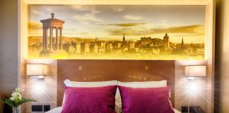A double bedroom at the Leonardo Royal Hotel Edinburgh © DEADLINE NEWS