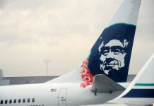 Is Alex Salmond featured on Alaska Airlines jets?
