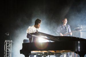 Benjamin Clementine on stage at the Edinburgh Festival Fringe 2017