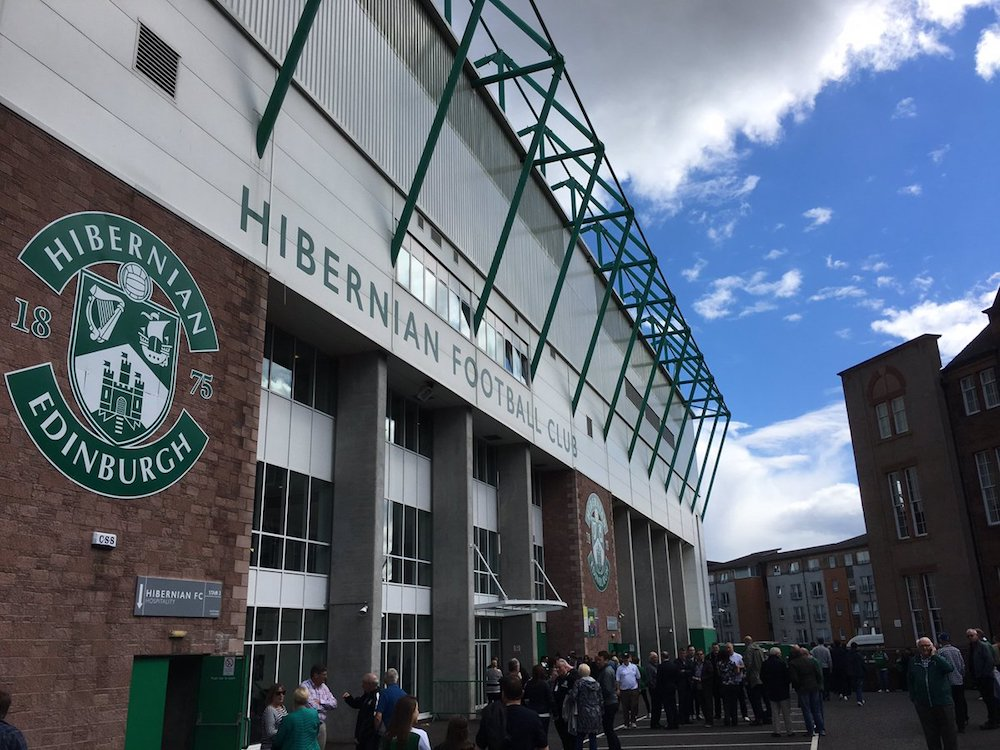 The signage on the from of Easter Road, the home of Hibs | Hibernian News