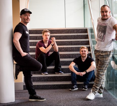 Comedians Craig Hill, Daniel Sloss, Gareth Waugh and Jimeion, photographed at the EICC (c) Wullie Marr/DEADLINE NEWS