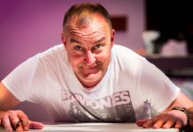 Comedian Jimeion, photographed at the EICC (c) Wullie Marr/DEADLINE NEWS