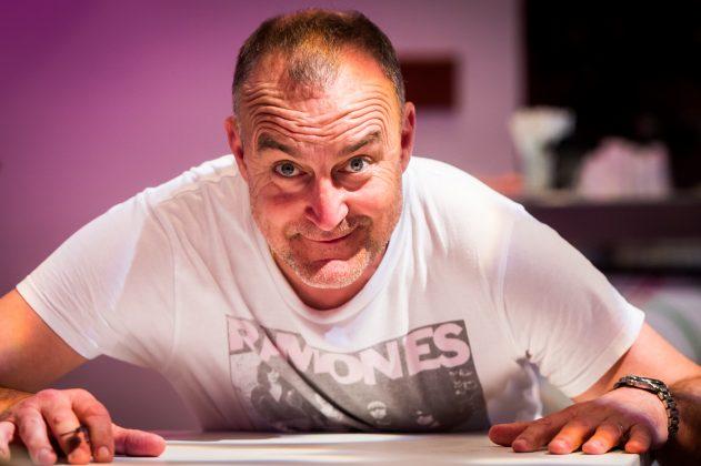 Comedian Jimeion, photographed at the EICC (c) Wullie Marr/DEADLINE NEWS