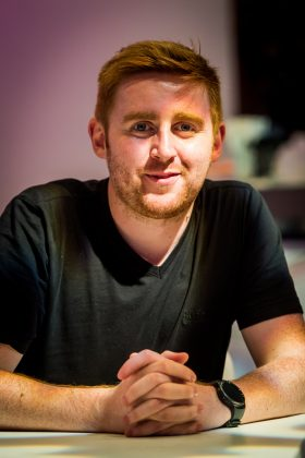 Comedian Gareth Waugh, photographed at the EICC (c) Wullie Marr/DEADLINE NEWS