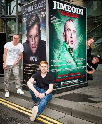 Comedians Jimeion, Gareth Waugh, Daniel Sloss, and Craig Hill, photographed at the EICC (c) Wullie Marr/DEADLINE NEWS