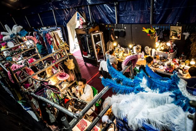 The Lady Boys getting ready before the show in Edinburgh © Wullie Marr/DEADLINE NEWS