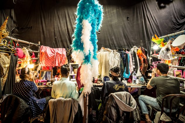 A look into the backstage at the Lady Boys of Bangkok show at the Edinburgh Fringe Festival © Wullie Marr/DEADLINE NEWS