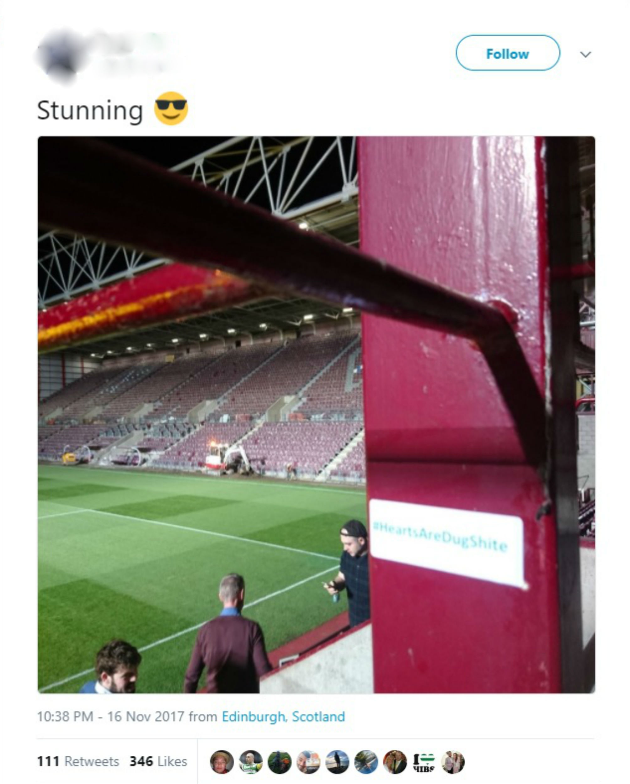 SNeaky hib fan managed to get in offensive sign about rivals during revamp-Scottish Football News