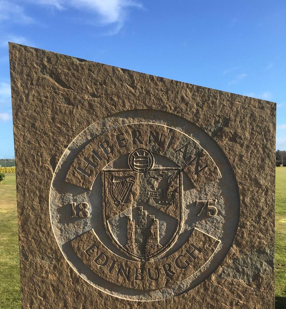 The entrance stone outside the Hibernian Training Centre | Hibs news