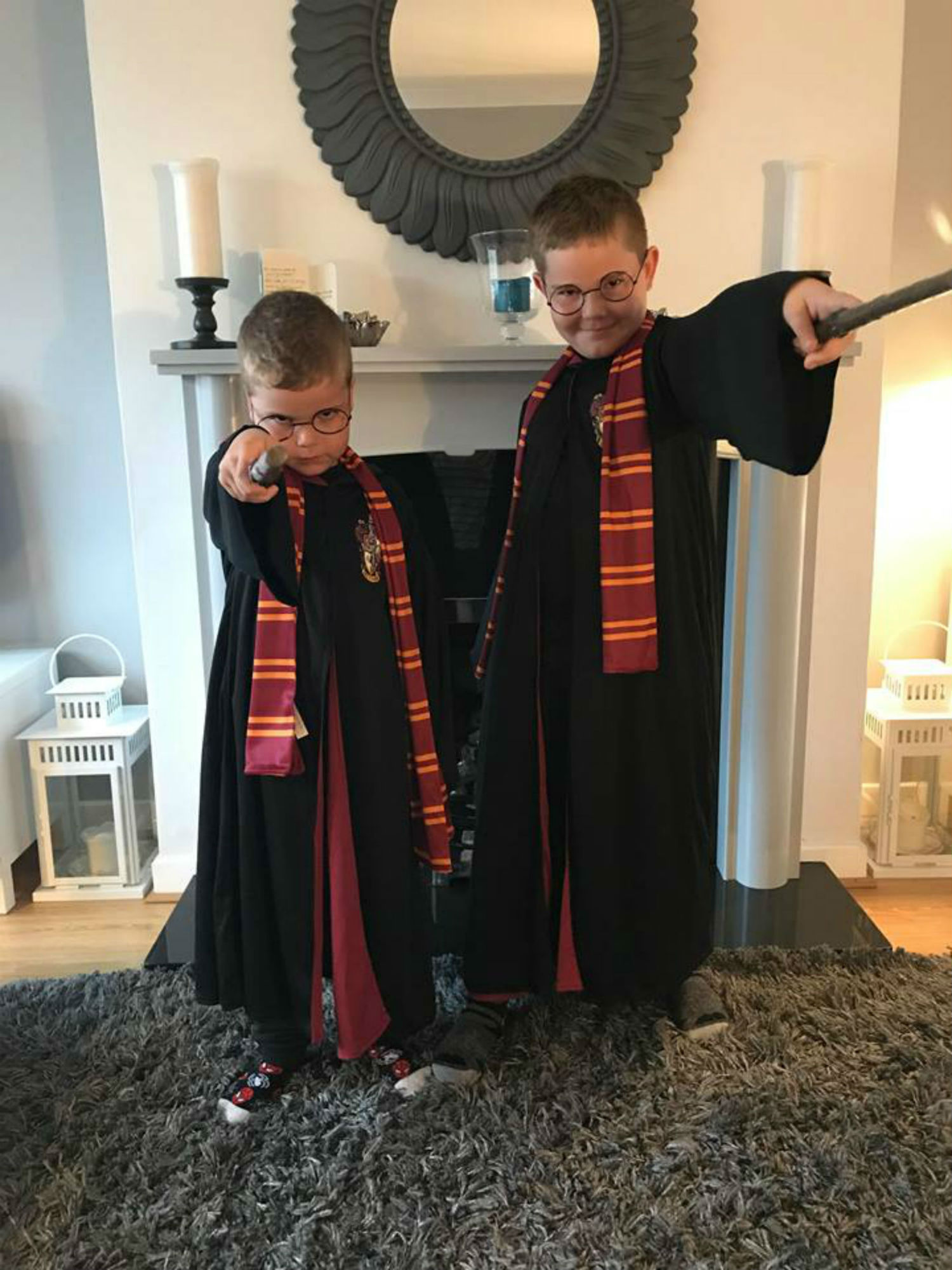 A photo of two boys dressed in Harry Potter outfits- Entertainment News Scotland