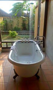 Free standing bath in Emerelda Resort, Ninh Binh, Vietnam