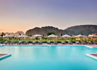 Emerelda Resort's main pool, Ninh Binh, Vietnam