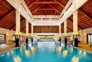 Emerelda Resort's indoor pool, Ninh Binh, Vietnam