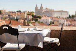 Palacio Belmonte dining, Lisbon, Portugal