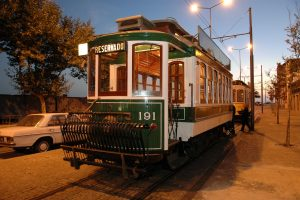 A traditonal tram car in Porto, Portugal