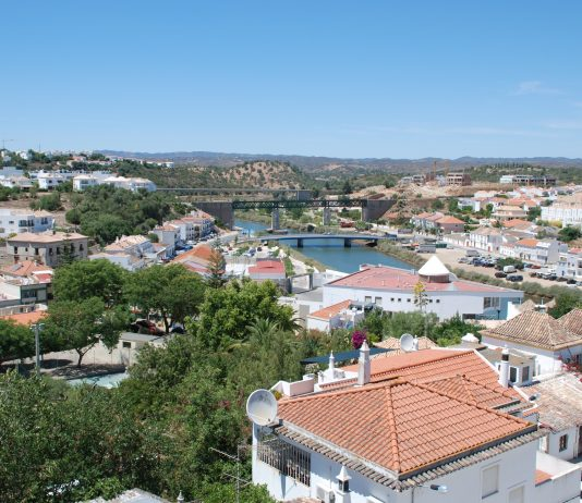 A panoramic view of Tavira in Portugal