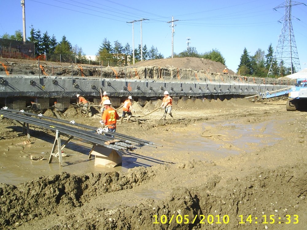 Soil nailing is used to reinforce and stabilize a slope or lose earth during construction.Washington State Dept of Transportation (C)- Business News