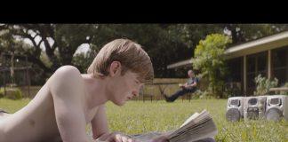 Screen grab from James Kelman movie, Dirt Road to Lafayette