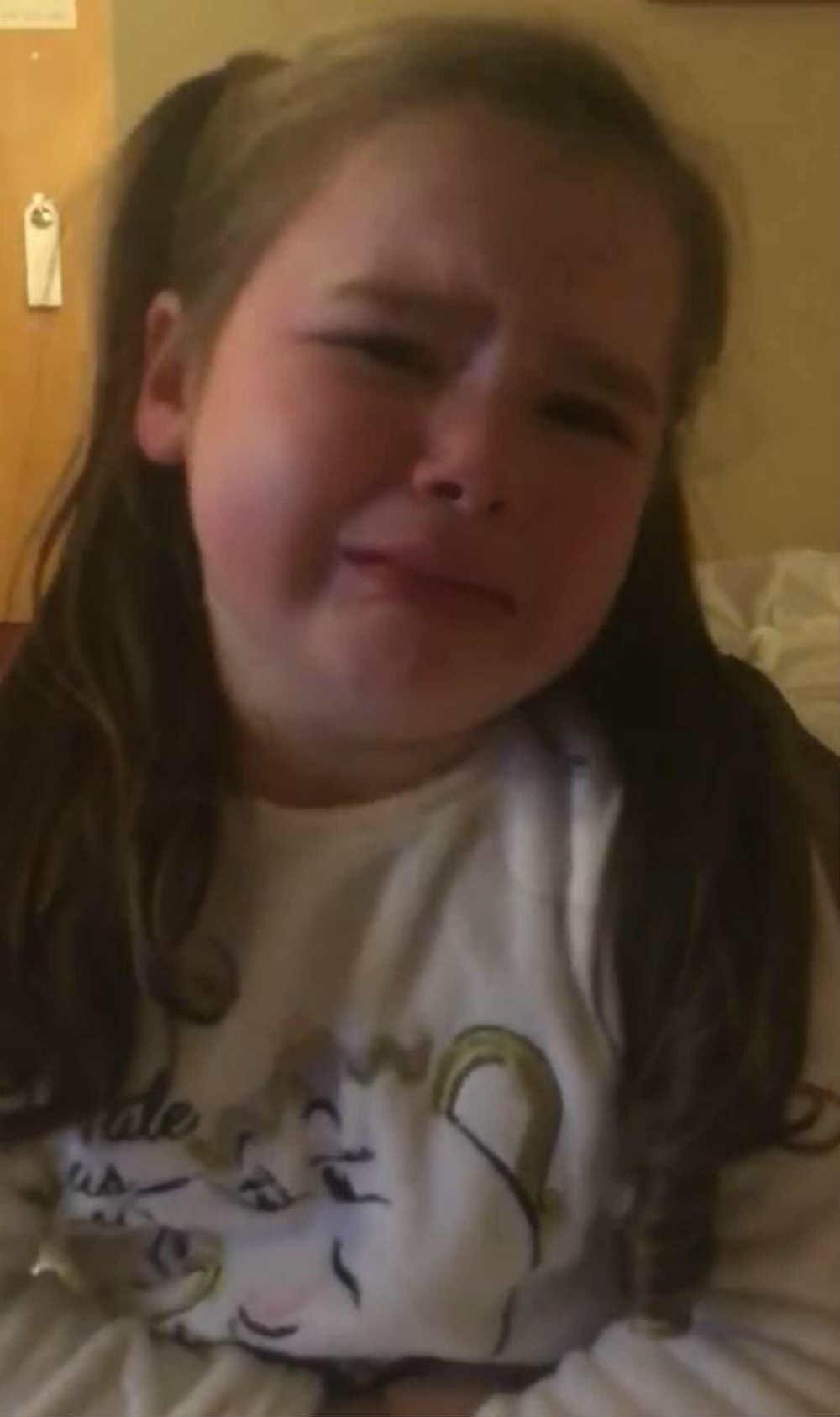 Heart-rending moment Irish girl, 4, is told she's spending ...