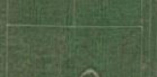 Drawing of penis on Aberdeenshire school field