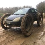 4x4 car on dirt track