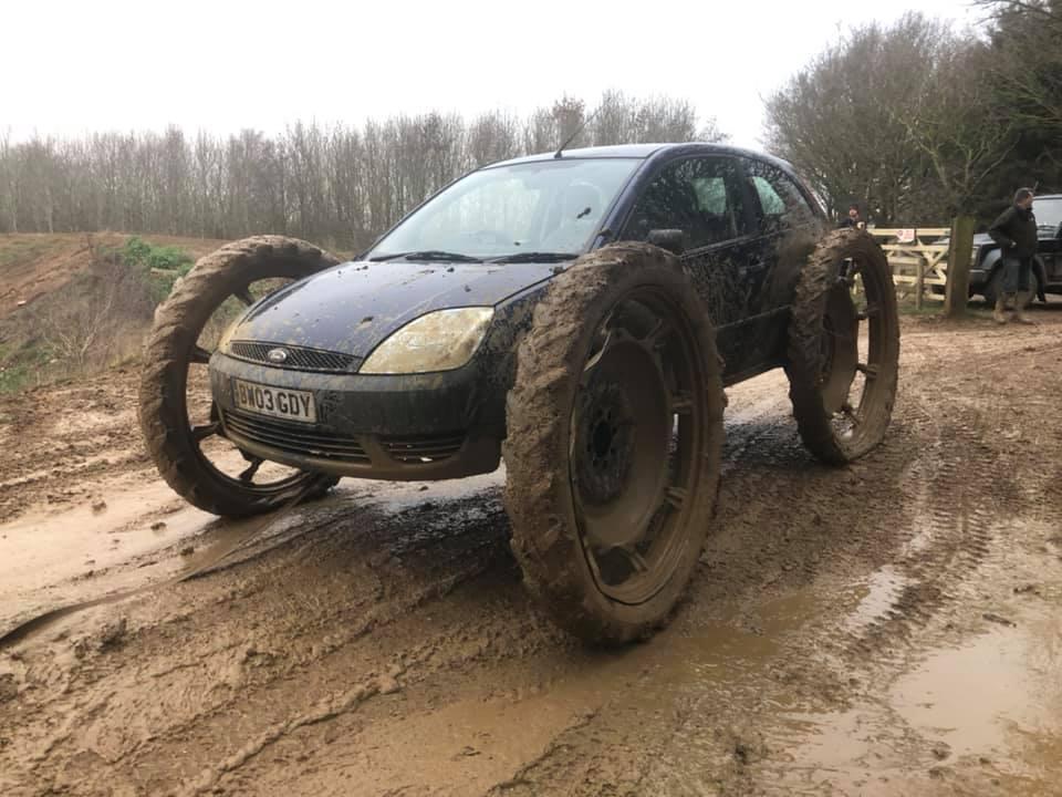 4x4 car on dirt track