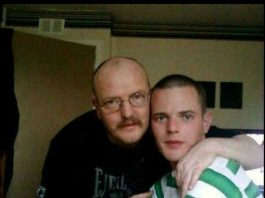 Allan Bryant Snr with his son