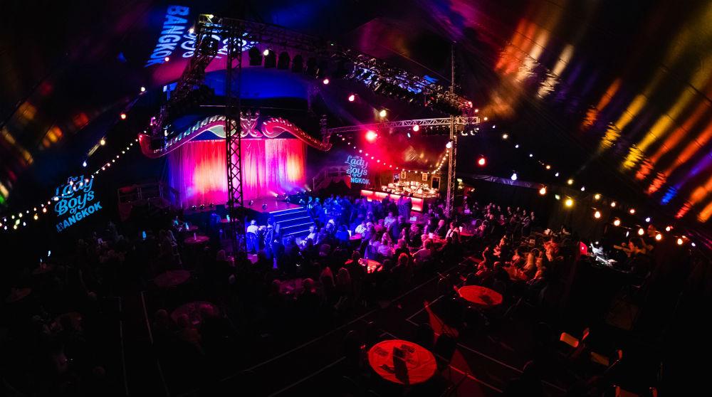 The Theatre Big Tops, The Ladyboys of Bangkok's pop up Fringe venue