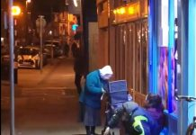 "Elderly woman handing out food to homeless on bitterly cold night praised as ""absolute legend"""