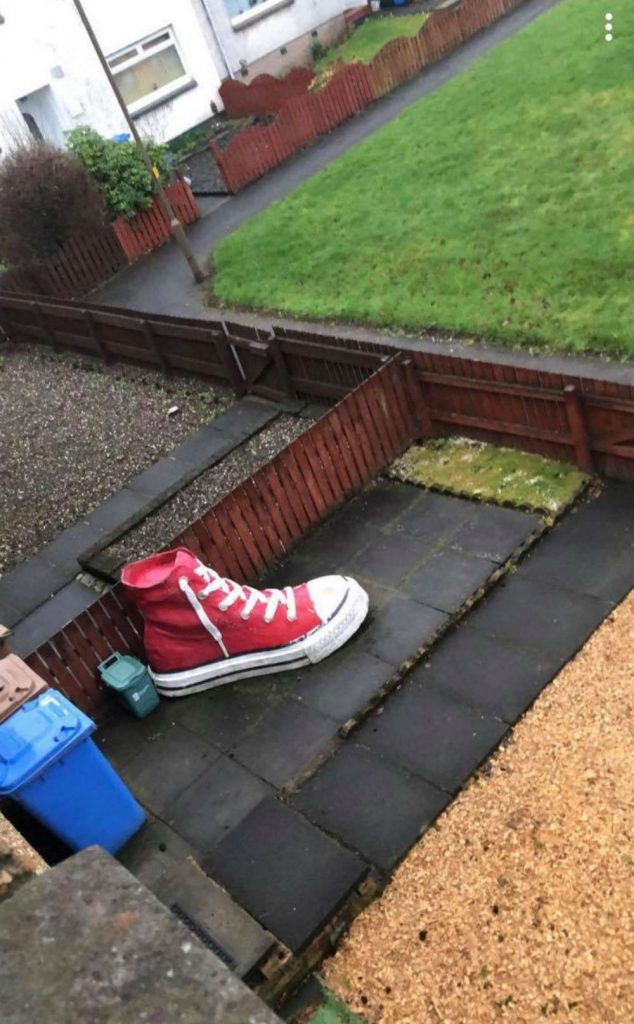 Mum goes viral after trying to sell giant shoe in her garden for almost £12,500
