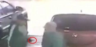 pensioner robbed petrol station