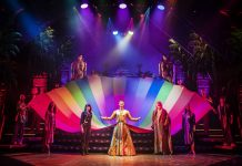 The image shows a shot of the production of Joseph and the Amazing Technicolor Dreamcoat at the Playhouse Theatre in Edinburgh. (C) Pamela Raith