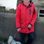 An image of Portobello resident, Lars, with his dogs Boo and Bentley taken by Luke McAdam as part of A Taste of Photojournalism course.