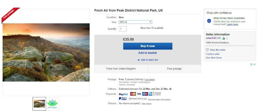 Bizarre photos appear to show eBay seller flogging