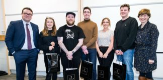 """Housebuilding industry giants,CALA Homes, have awarded five students with paid internships as part of their Student Partnership Award with Heriot-Watt University. The poster making competition which briefed students to """"push each and every boundary"""" of what makes up a typical home took place on 28th February and the winners were announced on 21st March."""