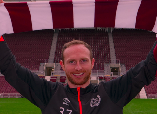 Aidy White holds Hearts scarf | Hearts news