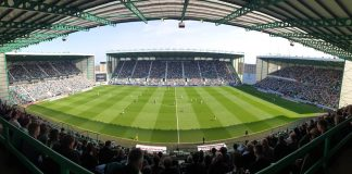 A packed Easter Road for a Premiership fixture | Hibs news