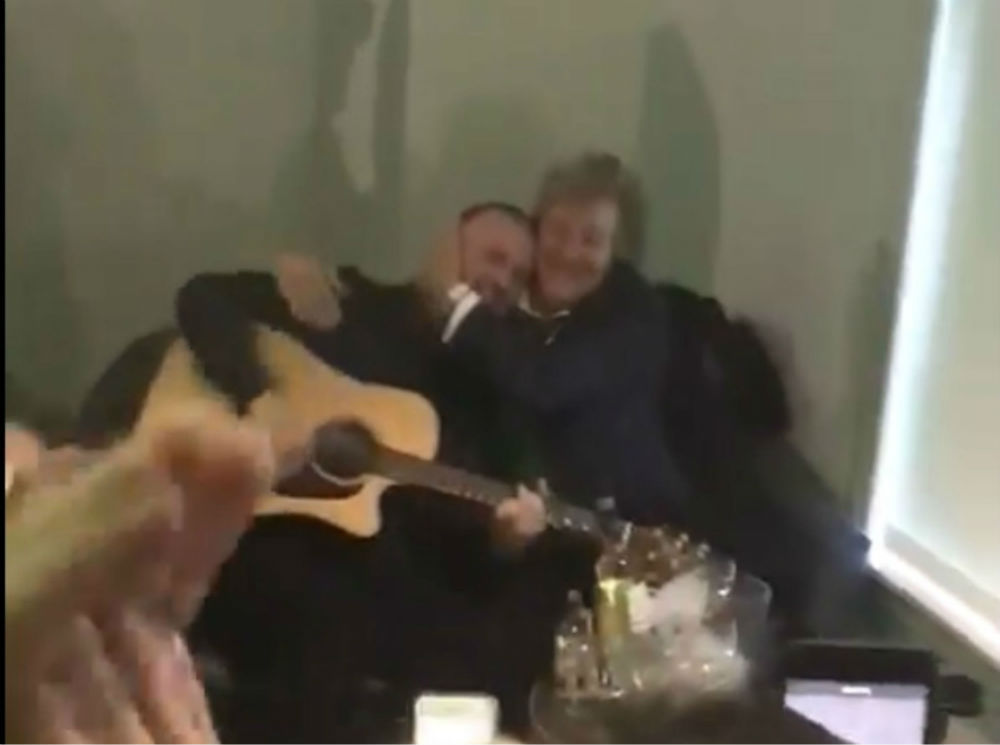 Rod Stewart is the star of a video which was taken at Celtic Park. The video shows the rockstar dueting Grace with lucky fan, Liam McGrandles. Rod Stewart was in Celtic Park for the Old Firm derby and dueted with the fan in the Kerrydale suite.