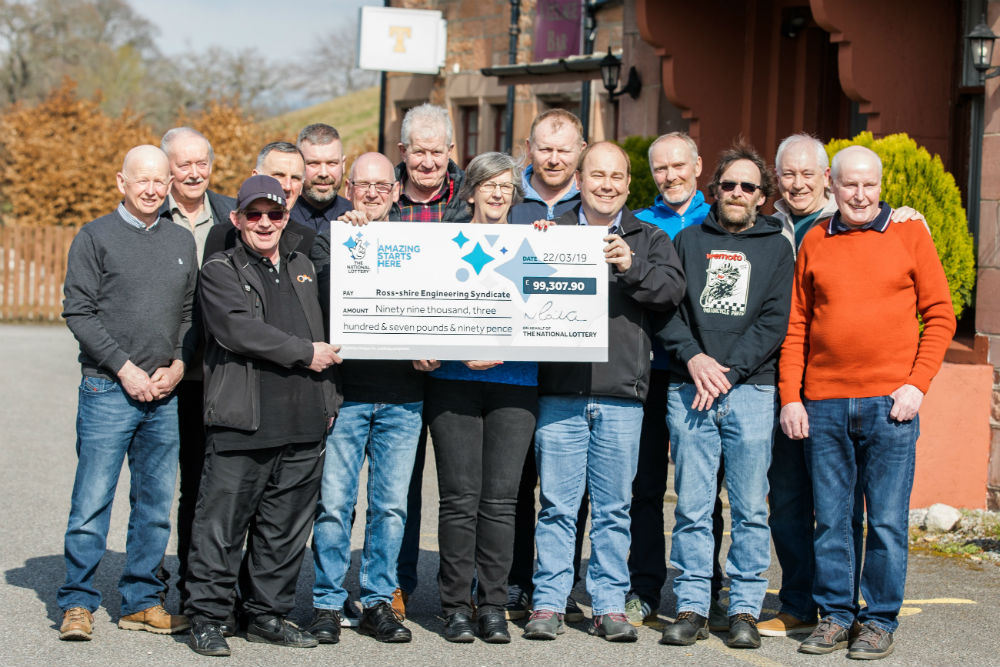 A SYNDICATE of staff from a Highland engineering company have scooped a £99,307.90 prize in the EuroMillions draw on Friday 22 March - after buying a ticket every week for 15 years.  A syndicate of 14 staff from Ross-shire Engineering in Muir of Ord matched the five main numbers and one Lucky Star number in the draw.