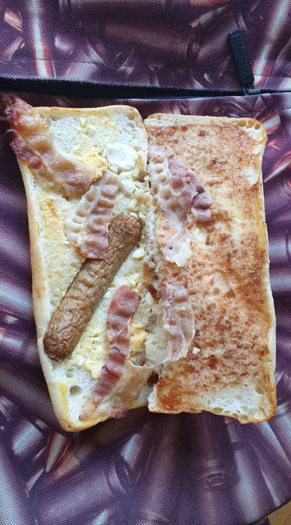 "Tesco customer posts snap of ""all day breakfast"" roll with half sausage plus scraps of bacon and egg"