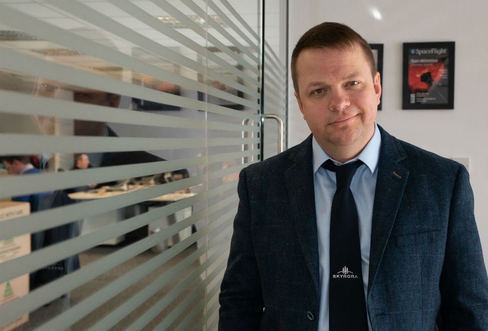 """Volodymyr Levykin, CEO. Edinburgh space company Skyrora has invited international spaceport operators, to submit their proposals to launch any of the firm's three rockets. Skyrora, who successfully launched Skylark Nano last year, are set to launch the """"Skylark Micro II"""", """"SkyHy"""" and """"SK-1"""" vehicles within the next 12 months - with two of the rockets already built and assembled in Britain."""