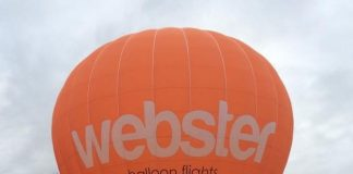 A DOUBLE world-record bagging balloon company has seen business take off thanks to the unprecedented spell of nice weather. The bright orange Z105 Cameron balloon from ballooning company, Webster Adventures, has competed in worldwide ballooning events and was one of 125 to cross the English Channel as well as being part of 450 balloons in Metz, France. Following the bout of fine weather, Webster Ballooning has been flying from their hometown of Kinross on hour-long experiences which take in the sights of Loch Leven.