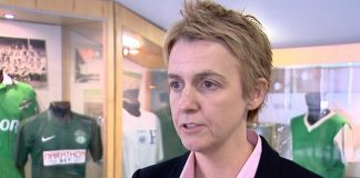 Leeann Dempster, Hibs chief executive, conducts a TV interview | Hibs news