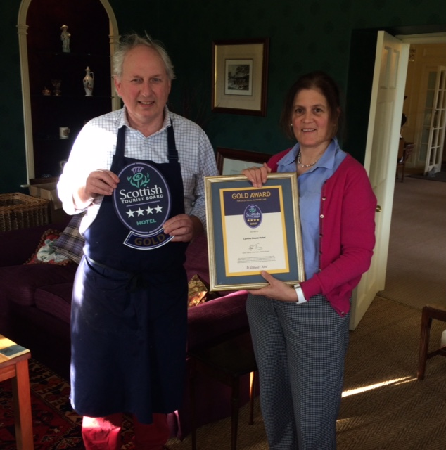 Angus and Jane Fodyce pictured with their Visit Scotland Quality Assurance Award