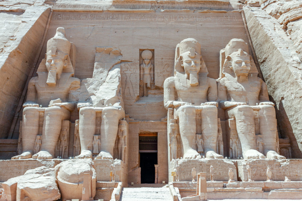 Abu-Simbel can be found in the Southern reaches of Egypt.  Photo by AussieActive on Unsplash