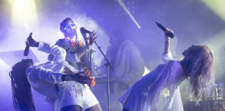 Crystal Fighters on stage, taken by James Duncan