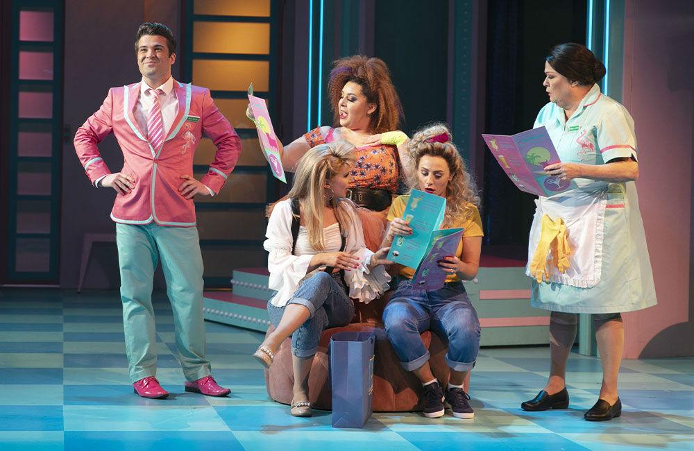 Club Tropicana in production shot